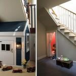 Cómo aprovechar el espacio bajo una escalera