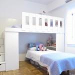 Cama para decorar y aprovechar el espacio en una habitación para niños
