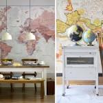 Ideas y consejos para decorar con mapas