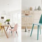 Casas con toques de color pastel