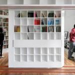 Una librería móvil para separar ambientes